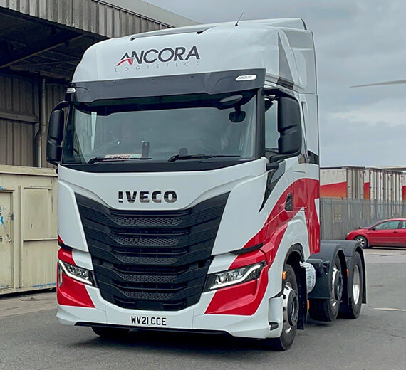 Ancora Logistics Iveco Cab in Yard